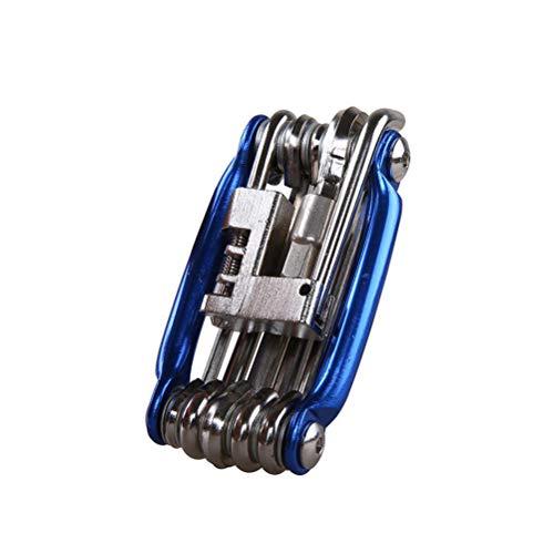LIOOBO Herramienta de reparación de Bicicletas Multifuncional 11 en 1 Herramienta de...