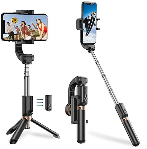 Apexel Bluetooth Selfie Stick Handheld Extendable Phone Tripod with Single Axis Gimbal Anti product image