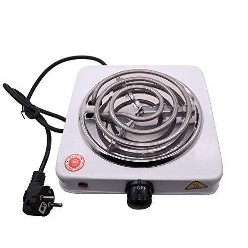 VINP Shisha Elektrischer Kohleanzünder 1000W Kohlebrenner Kochplatte für Wasserpfeife Barbecue Kohle (Weiß 02)