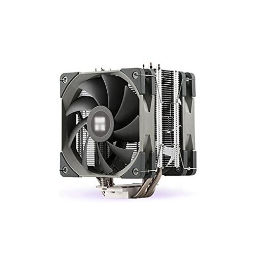 Ventilador CPU Refrigerador de aire CPU con ventilador de enfriamiento de CPU de 120 mm y 4 Publicaciones directas de contacto directo Tubos de disipador de calor de CPU Aletas de níquel cepillado Zóc