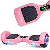 UNI-SUN Self Balancing Hoverboard Two-Wheel Hoverboard for Kids with LED Lights - UL 2272 Certified, Pink