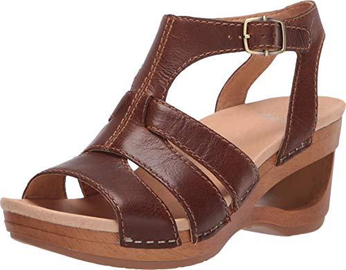 Dansko Women's Trudy Tan Wedge Sandal 6.5-7 M US