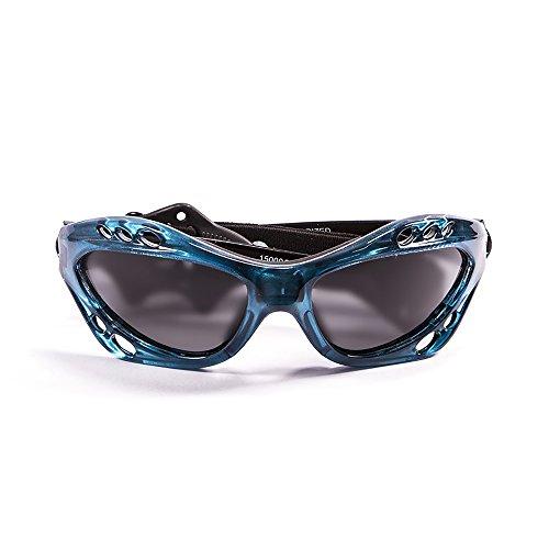 Ocean Sunglasses - Cumbuco - lunettes de soleil polarisées - Monture : Bleu Transparent - Verres : Fumée (15000.6)