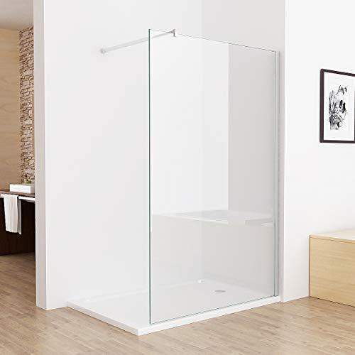 MIQU Walk in Dusche 100 x 200 cm Duschwand Duschtrennwand Duschabtrennung 10mm ESG NANO Glas CB10
