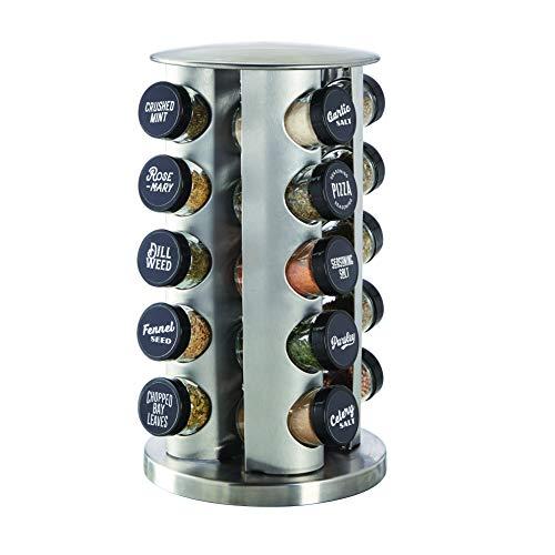 Kamenstein 5244685 Revolving 20-Jar Countertop Rack Tower Organizer