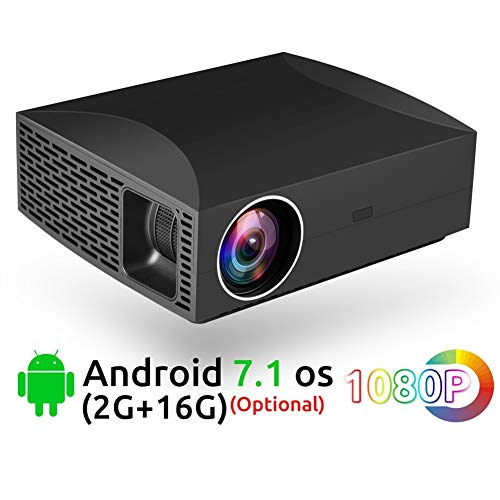 Projectoren, 5500 Lumen Full HD 3D Video LCD LED 1920x1080 Projector WiFi Android Bluetooth Smart Beamer