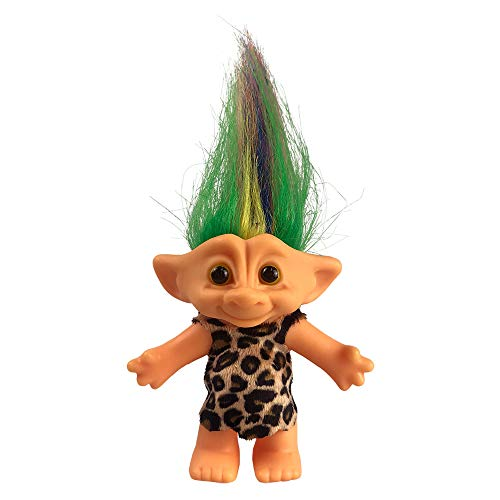 Yintlilocn Lucky Troll Dolls,Vintage Troll Dolls Chromatic Adorable for Collections, School Project, Arts and Crafts, Party Favors - 7.5 Tall Colorful Hair (Include The Length of Hair)