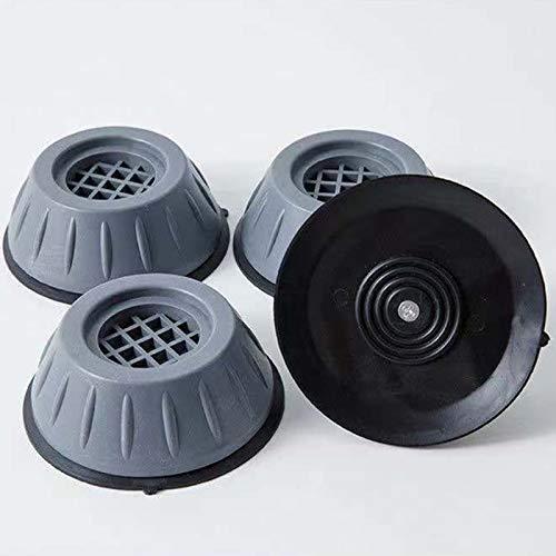 Ekrfxh Pieds de machine à laver, tapis antidérapant en caoutchouc anti-vibrations pour sèche-linge et lave-vaisselle, Noir , L