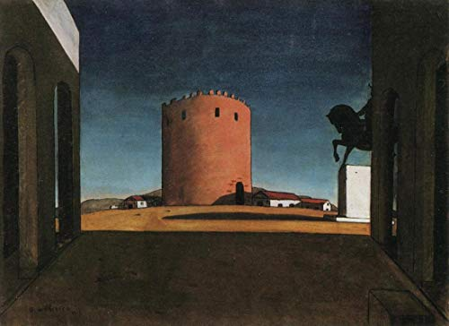 Lilarama USA The Red Tower Giorgio Chirico - Canvas Art Print - Wall Art - Canvas Wrap