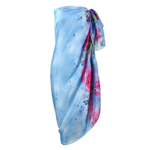 UK_Stone Damen Unifarben Wickelrock Sarong Pareo Strandtuch Wickeltuch Bikini Sonnenschutz Decke Cover-up