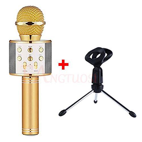 JVCAN draadloze bluetooth microfoon, professionele karaoke speaker consender, handmicrofoon radio studio record microfoon