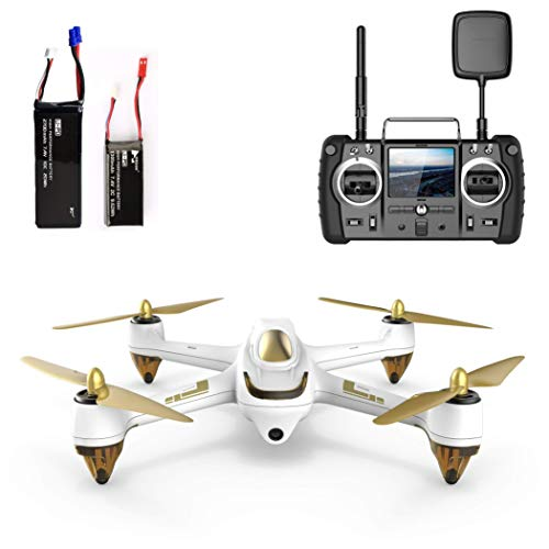 Hubsan H501S X4 PRO Brushless FPV Droni Quadricotteri GPS Fotocamera 1080P HD 5.8Ghz Headless Follow Me GPS Hold Altitude con H906A Telecomando (H501S Blanco)