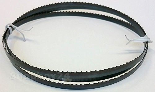 Standard Sägeband Bandsägeband Bandsägeblatt Sägebänder 2100 mm x 8 mm x 0,65 mm x 6 Zähne pro Zoll , für Holz , Hartholz , Brennholz , Sperrholz , Quer- und Schweifschnitte , für Maschinen wie : Scheppach HBS 32 Vario u.v.m.
