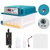 TTLIFE Incubatrici per Uova in Edizione Limitata da 16 Uova, Mini incubatrice elettrica Doppia Automatica con Pinna, per Uova da cova e Uova di quaglia