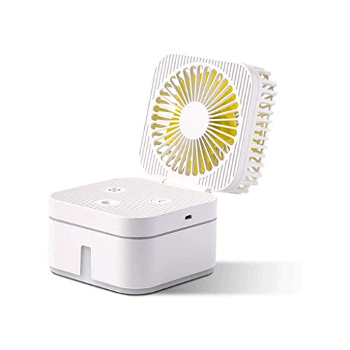 ECSWP Small Table Fan for Office, Best Gifts for Women Mom Mothers' Day, Quiet Mini USB Fan, Desk Fan for Teen Girls,USB Powered (Color : A)