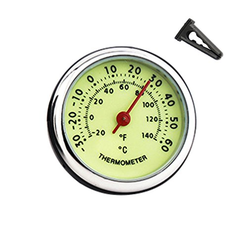 idain Car Dashboard Thermometer - Mini Vehicle Thermometer Decoration Air Vent Cilp