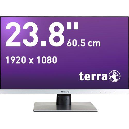 Wortmann AG Terra LED 2462W Computerbildschirm 60,5 cm (23.8 Zoll) Full HD Flach Schwarz, Silber - Computerbildschirme (60,5 cm (23.8 Zoll), 1920 x 1080 Pixel, Full HD, LED, 4 ms, Schwarz, Silber)