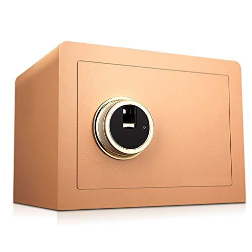 Kluis, kluis, elektronische vingerafdruk (30 stuks), onafhankelijk aan de muur gemonteerd, 4 batterijen met goud, 36 x 30 x 26,5 cm