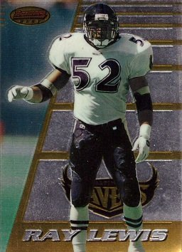 1996 Bowman's Best Football #164 Ray Lewis Rookie Card – His best and most valuable Rookie Card!