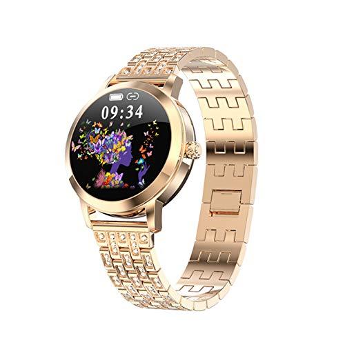 WPH 2021 Reloj Inteligente Encantador para Las Mujeres IP68 IP68 Impermeable Ritmo cardíaco BP Mensaje RECORDATORIO LW10 SmartWatch Connect para Android iOS,A