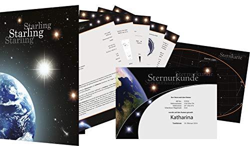 Starling© Sternregister - Einen echten Stern kaufen - Sterntaufe verschenken - Stern benennen (Starlet)