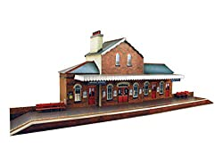 Image: 7mm 1:48 scale Model Railroad Building RAILROAD STATION Kit | The CityBuilder | Perfect for O scale Model Railroad layouts, scenery and dioramas