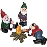 TOPPU 4 Stück Lustige Gartenzwerg Figur Happy Gartenzwerg Dekoration, Betrunkene Garden Gnomes Kit vonfür Fairy Garden, Rasen Ornamente, Innen- oder Außendekorationen und Geschenk