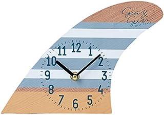【サーフボード フィン スタンドクロック 置き時計「SURF BOARD ブルー」】アロハ・マウイ ハワイ おしゃれ時計 模様替え ハワイアン雑貨 サーフ 西海岸風 インテリア アメリカン雑貨