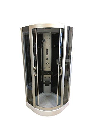 DUCHA CABINA DE HIDROMASAJE SPA RADIO New York 90 x 90 cm CROMOTERAPIA