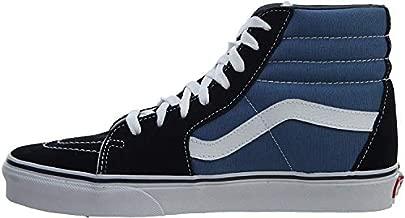 Vans Sk8-Hi Sneakers (Navy) Men's Canvas Suede Skateboard High-Top Shoes