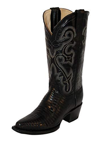 Ferrini Women's Lizard Cowgirl Boot Snip Toe Black 8 M US