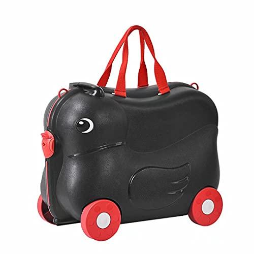 Valigia da viaggio Ride-on 19' - Valigia da viaggio per bambini Valigia da viaggio per bambini Valigia da viaggio per bambini con 4 ruote, buona per la valigia della scuola dei bambini