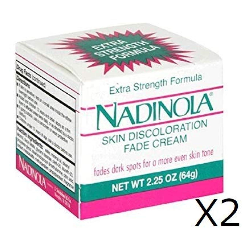 ルーフについてブルジョンNadinola Discoloration Fade Cream 2.25oz Extra Strength (64gX2個)