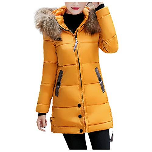 Dosoop Women's Winter Comfortable Hooded Thick Long Down Jacket Waterproof Ski Hooded Snow Coat Mountain Fleece Parka