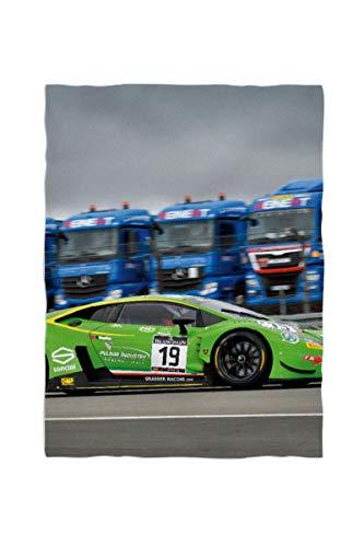 fotobar!style Foto-Fleecedecke klein ca. 100 x 135 cm gesäumt Lamborghini Huracan GT3