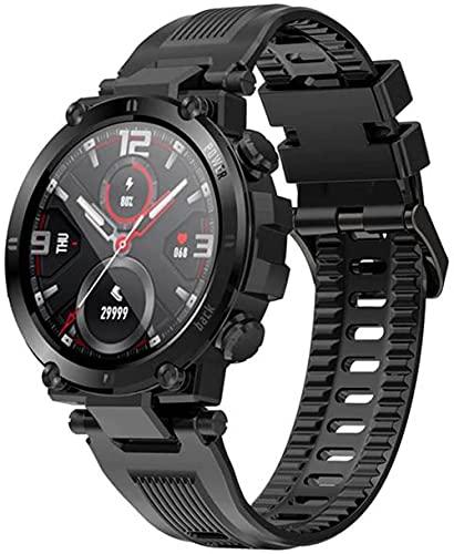 wyingj Smart Watch hombres pantalla táctil completa noticias empuje IP68 impermeable smartwatch-B
