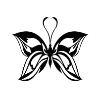 ZDZCLI 中空蝶の漫画のステッカー車の装飾車ステッカー車のステッカーの傷 (Color : Black)