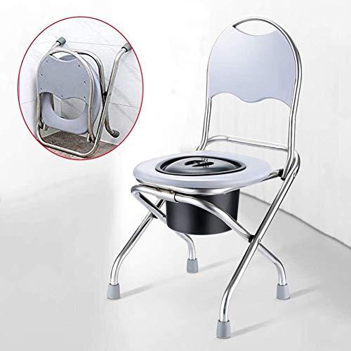 Aseo multifuncional plegable Silla con orinal, ancianos Pesado de asiento de inodoro WC marcos con seguridad marco higiénico for el mayor de la desventaja de asiento de inodoro Juego de sillas 819