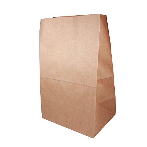 Boda Papiertüte groß Lunchtüte Kraftpapiertüte XL: ca. B 26 x T17 x H34 cm, 25 Stück