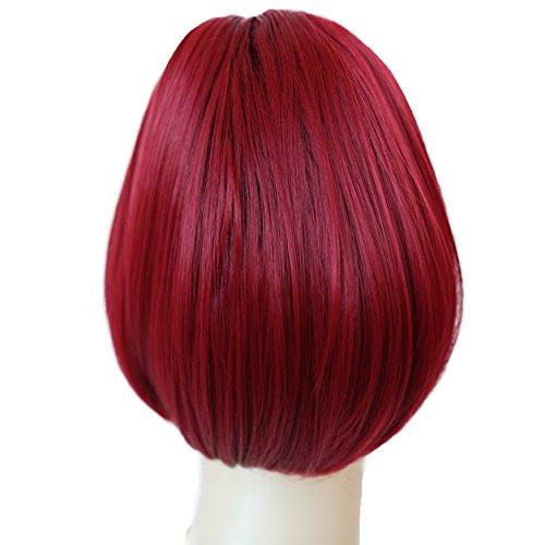 PRETTYSHOP Dutt Haarteil Zopf Haarknoten Hepburn-Dutt Haargummi Hochsteckfrisuren rot #113A H415