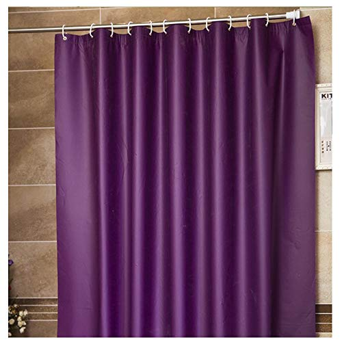 Frank Home Shower Curtain Set with Hooks PEVA Solid Purple Color  Excellent Waterproof Bathroom Accessories Bath Curtain 71' W x 78' L