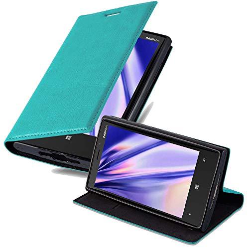 Cadorabo Custodia Libro per Nokia Lumia 920 in Turchese Petrolio - con Vani di Carte, Funzione Stand e Chiusura Magnetica - Portafoglio Cover Case Wallet Book Etui Protezione