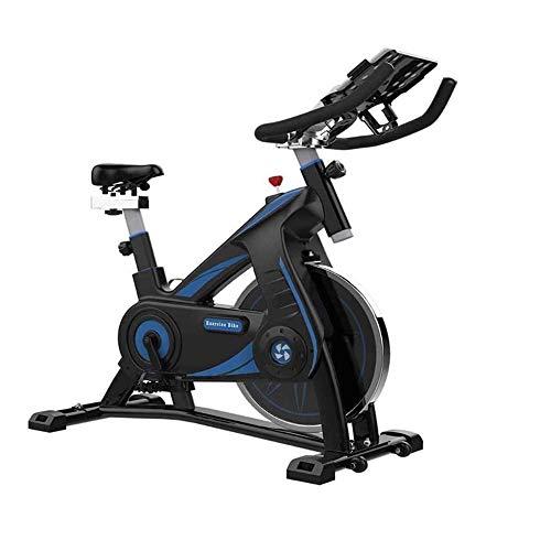 Bicicleta en bicicleta de ciclismo interior Bicicleta de ejercicios estacionarios, Cojín de asiento cómodo de entrenamiento compacto con soporte para iPad para la bicicleta de entrenamiento de cardio