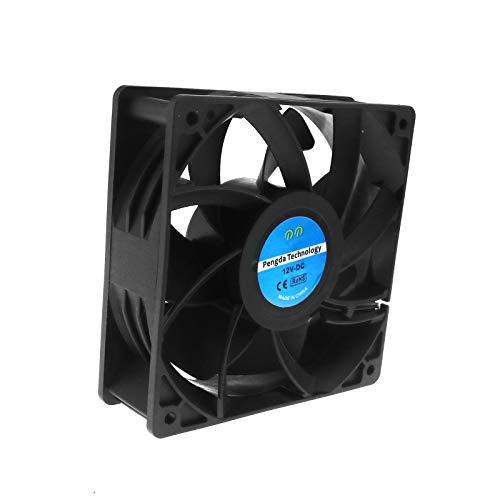 1x Ventilador Ventilador de 2pines Rodamientos 12V 0.6A 120x 120x 38mm para PC, el sudor dispositivo, Inverter, motor con CE