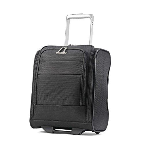 Samsonite Eco-Glide Softside Luggage with Spinner Wheels, Midnight Black, Underseater