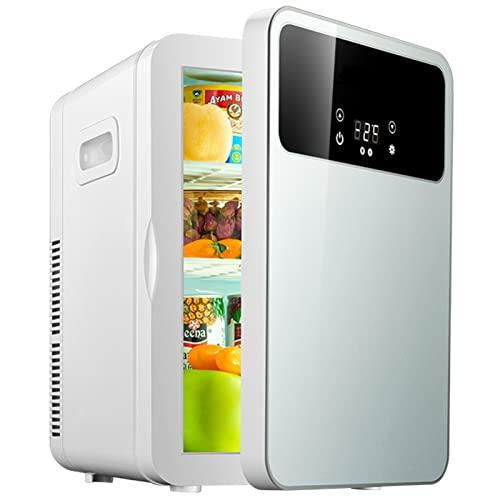 Mxsnow Mini Refrigerador para Dormitorio Refrigerador Y Calentador Portátil Snjiaheim Es Adecuado para El Cuidado De La Piel Cosméticos Mini Refrigerador-20L-SILVER