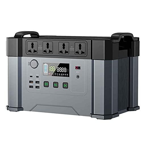Generador portátil,405405mA / 1500Wh, Salida AC/DC/Type-C/USB/Cargador de Coche, Cargador de Red/Coche/Carga de Panel Solar, Compatible con Varios países