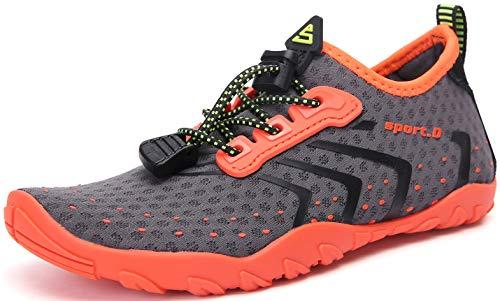 SAGUARO Zapatos de Agua para Niños Niñas Zapatos de Playa Escarpines para Deportes Acuático Natación Buceo Piscina Antideslizante Transpirable, 021 Naranja, 32 EU