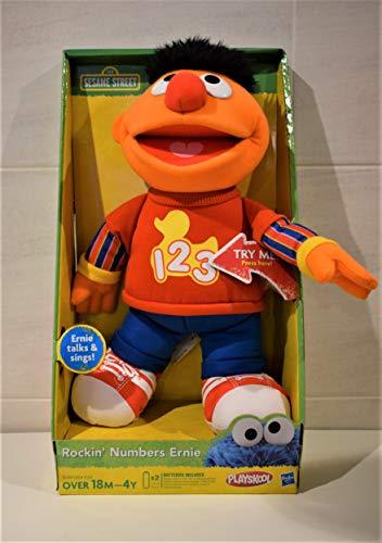 Playskool Sesam Straße 34cm sprechende Rockin Zahlen Ernie Soft Plush Toy (English Version)