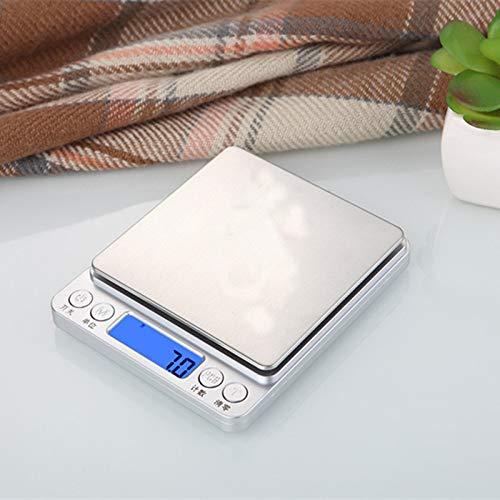 yurunn Báscula de Cocina Digital báscula electrónica Gran Superficie de pesaje iluminación Pantalla LCD Inglés 1Kg / 0.1g